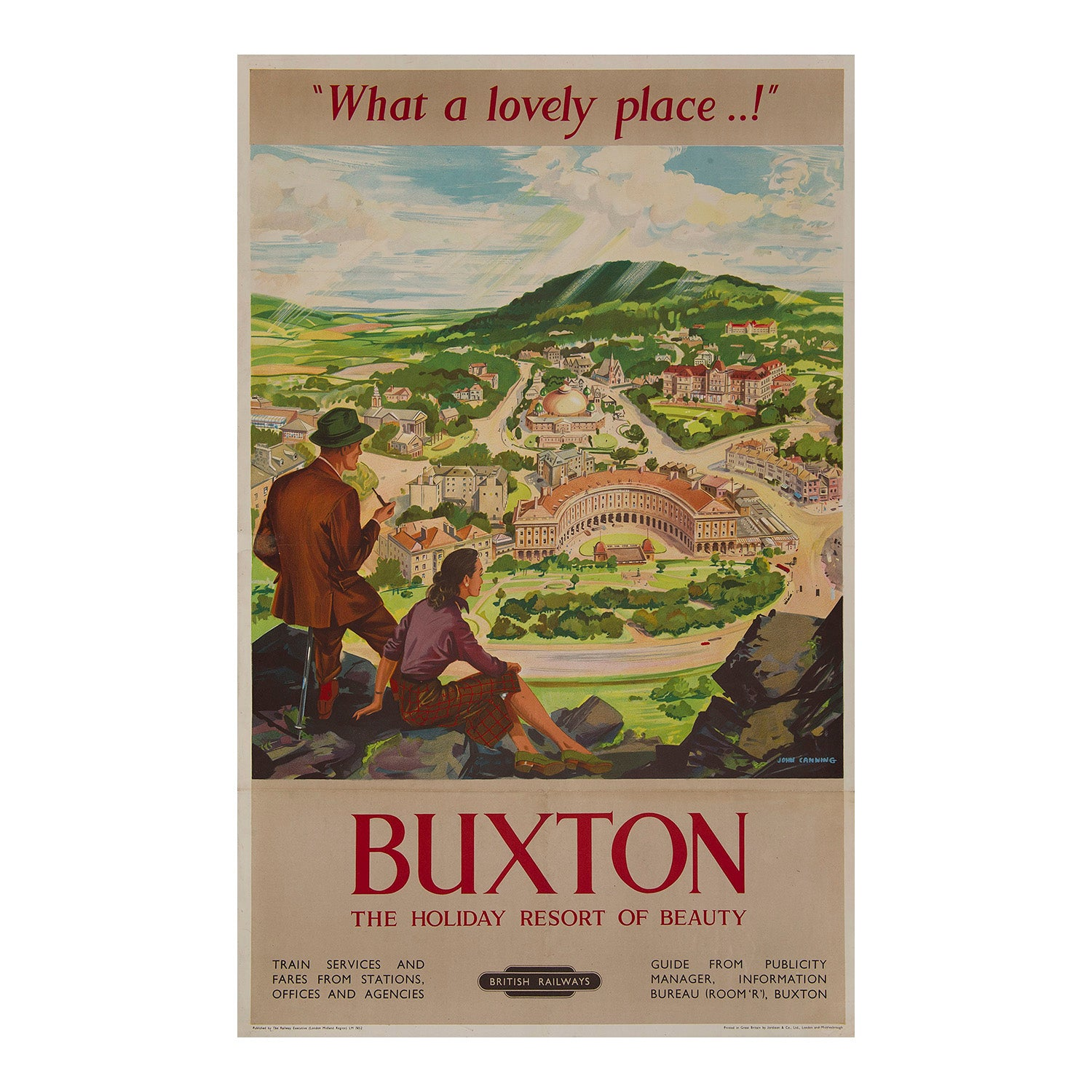 Buxton. The holiday resort of beauty