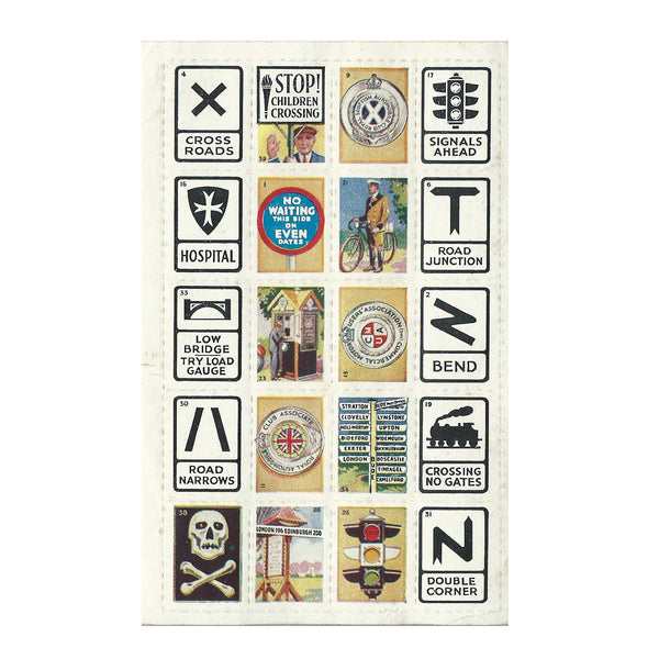 1930s road sign stickers (set)