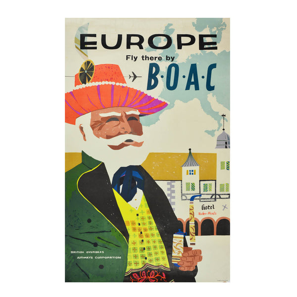 Europe Fly there by BOAC