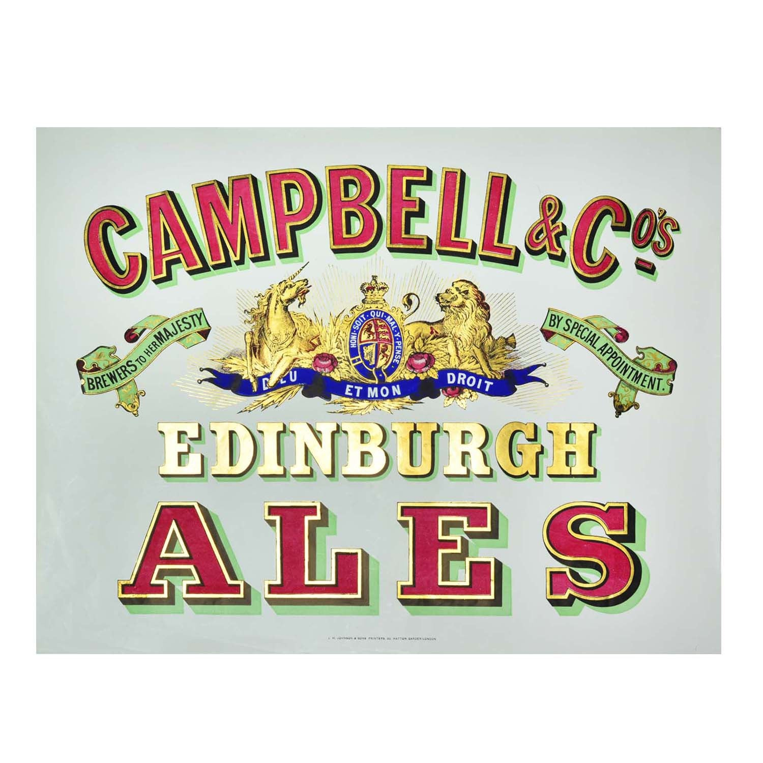 Original Campbell & Co Edinburgh poster 1900