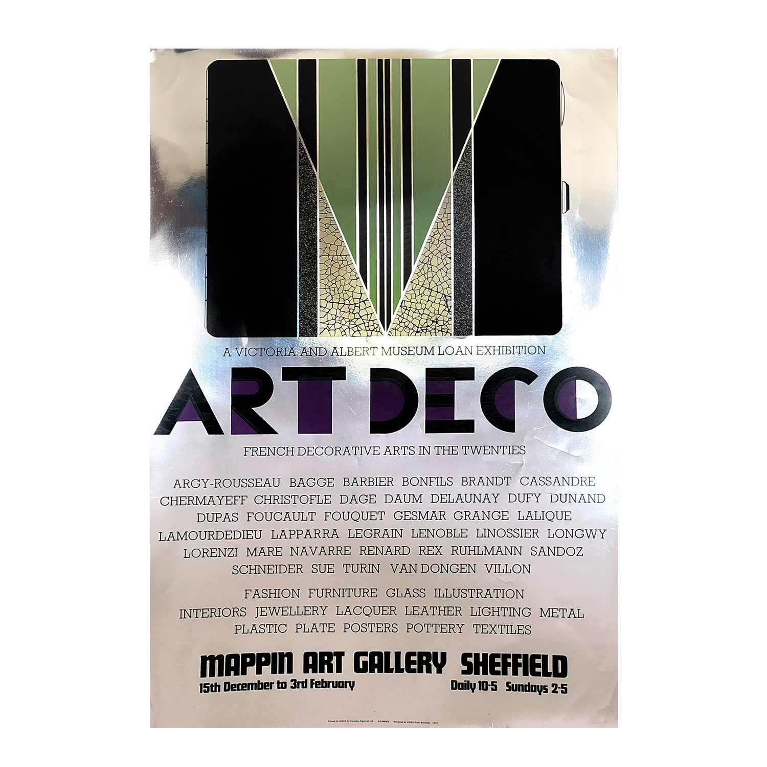 Original poster Art Deco - French Decorative Arts in the 1920s. Exhibition