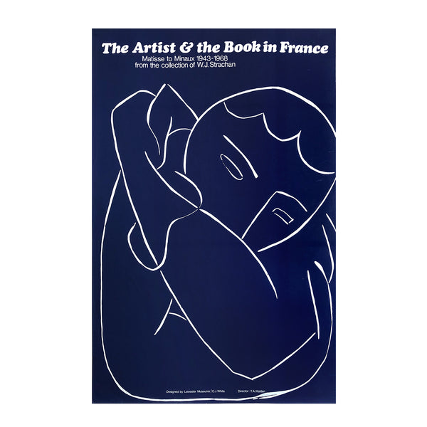 original poster The artist & the book in in France. Matisse to Minaux 1943-1968. Exhibition