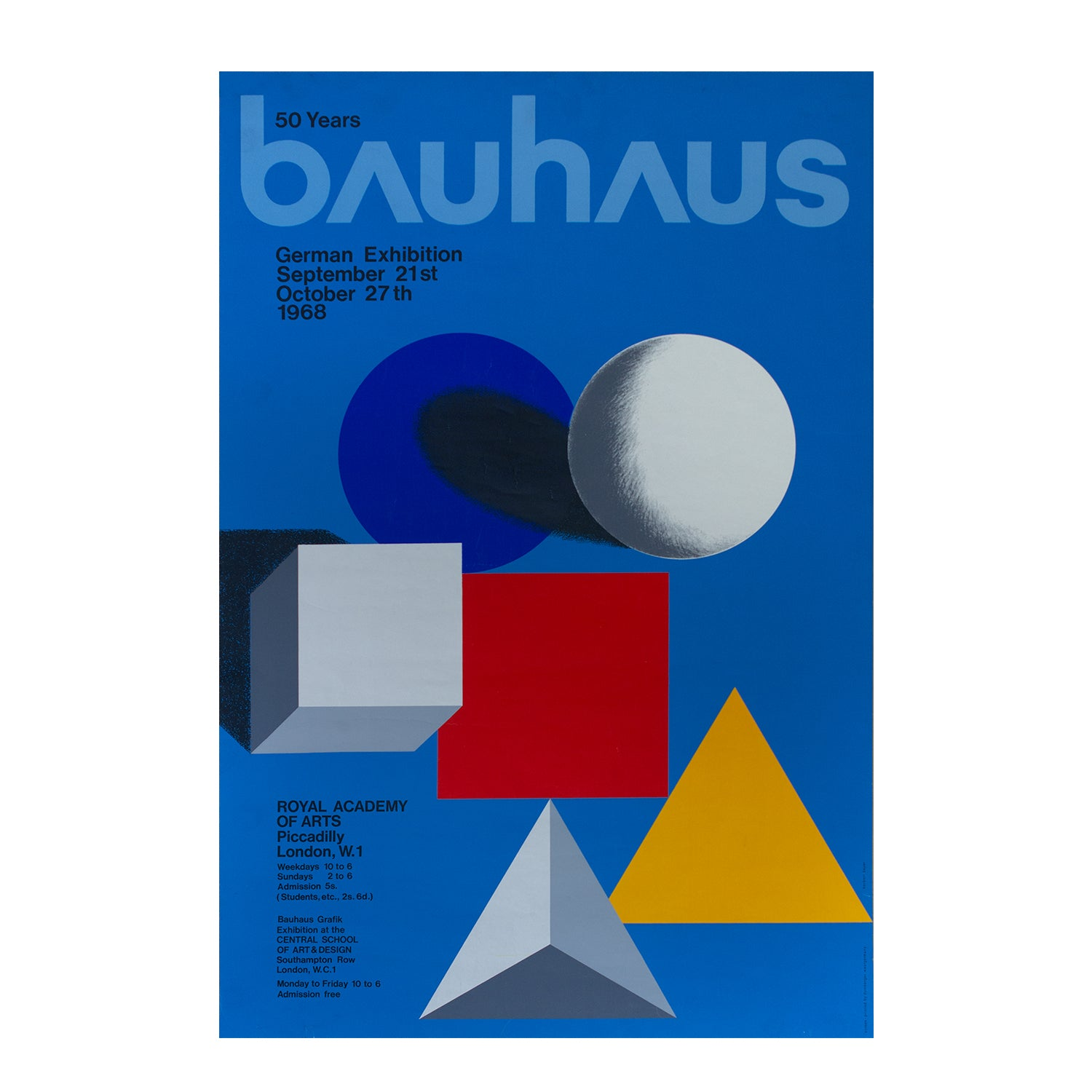 50 Years of Bauhaus. Exhibition