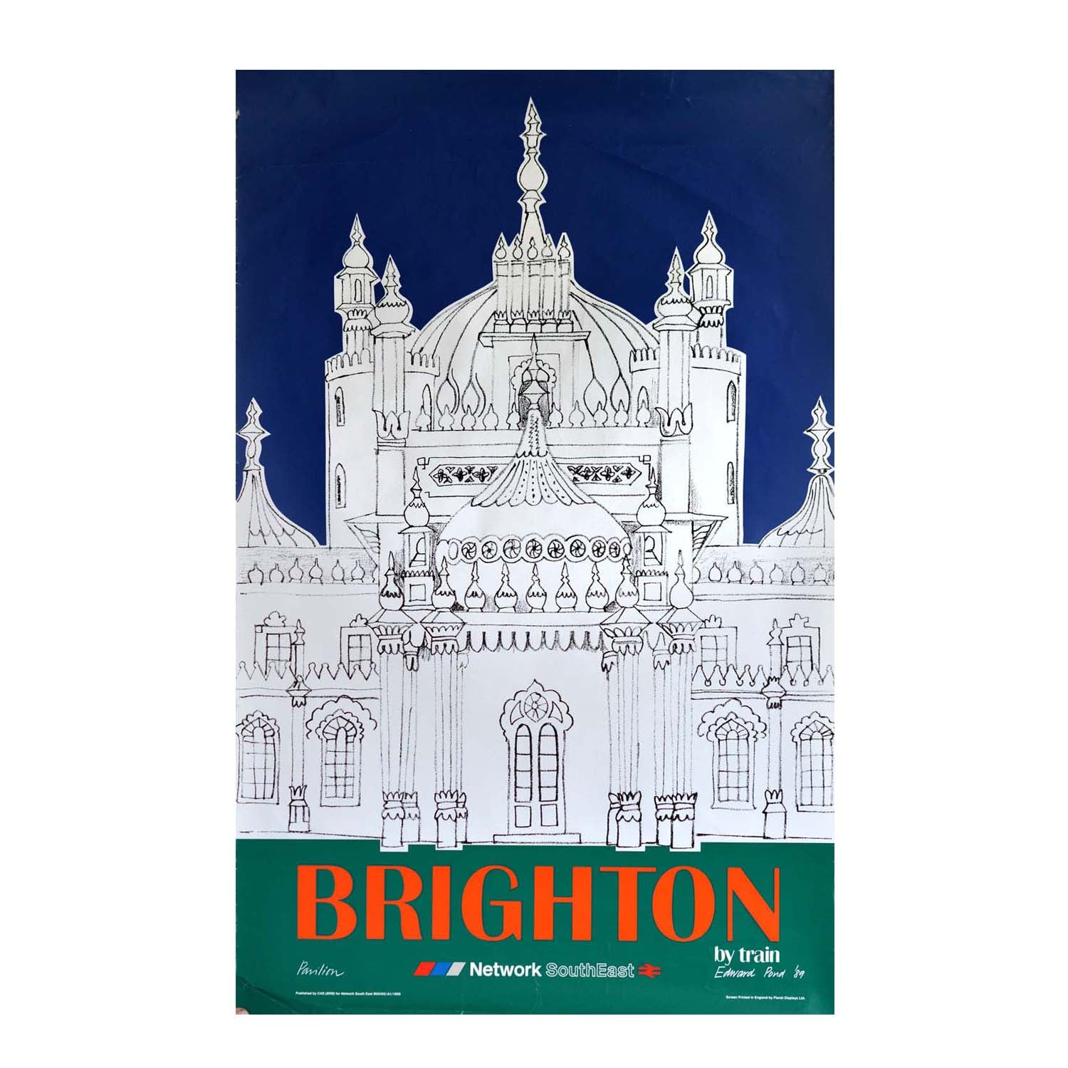 Original British Rail poster Edward Pond Brighton