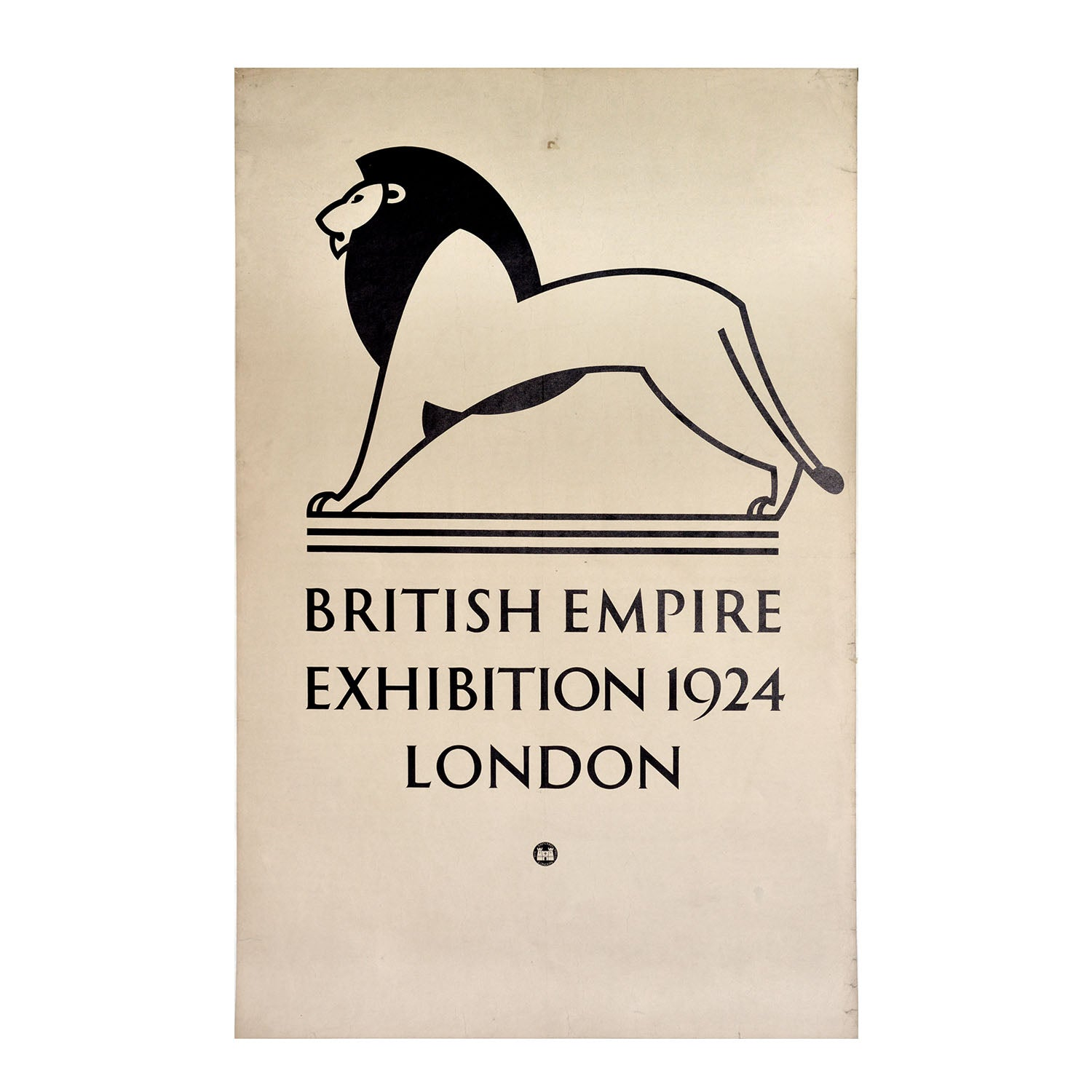 An extremely important and rare poster by Charles Herrick for the British Empire Exhibition, 1924.