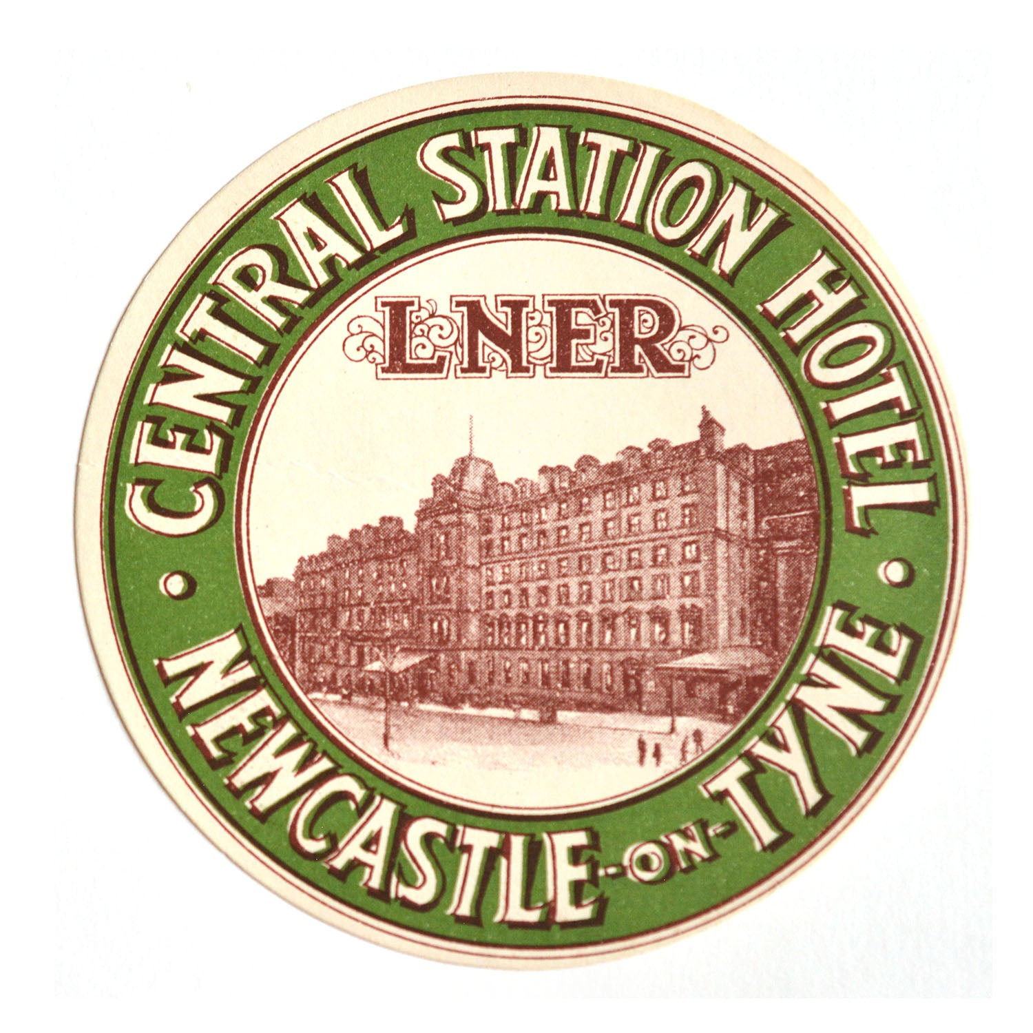 Luggage label, L.N.E.R