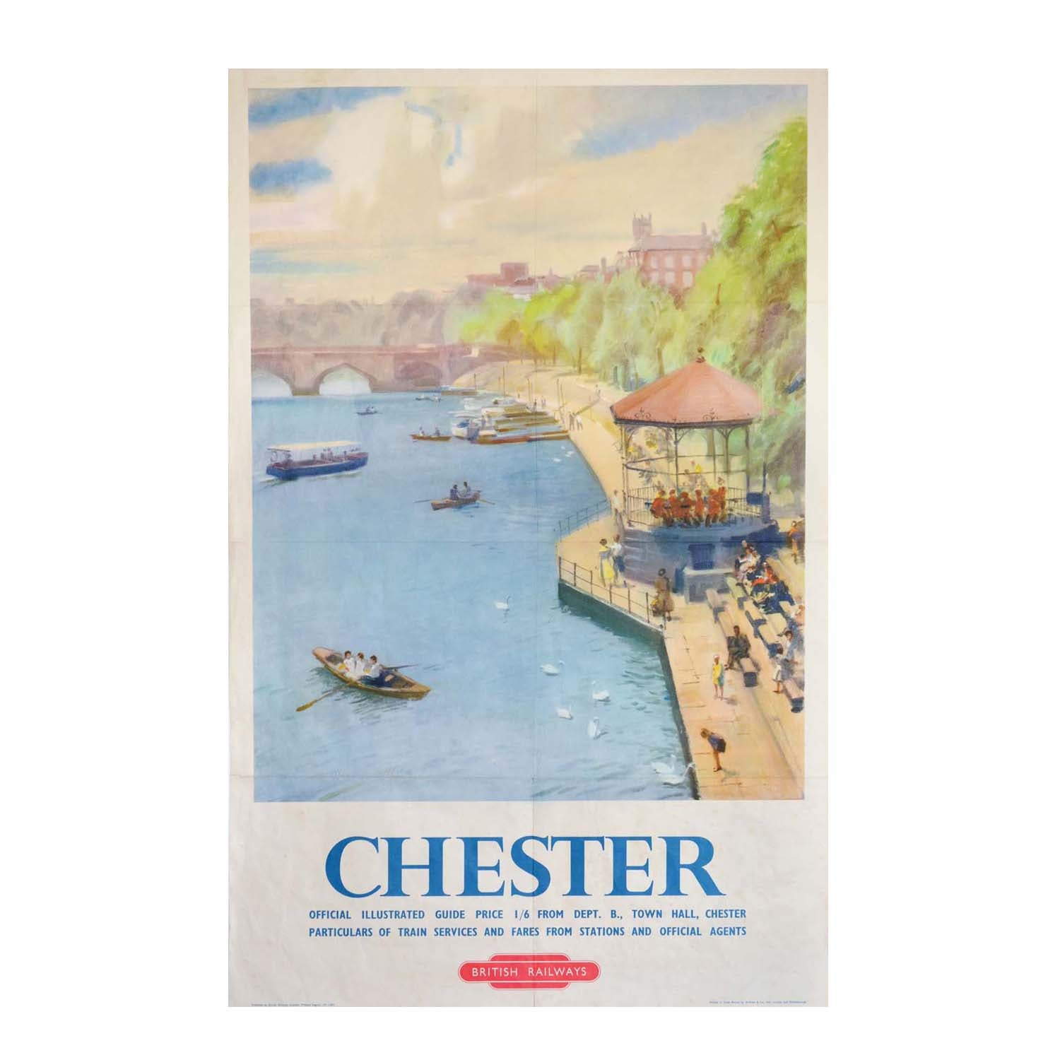 Original British Railways poster Chester 1950s