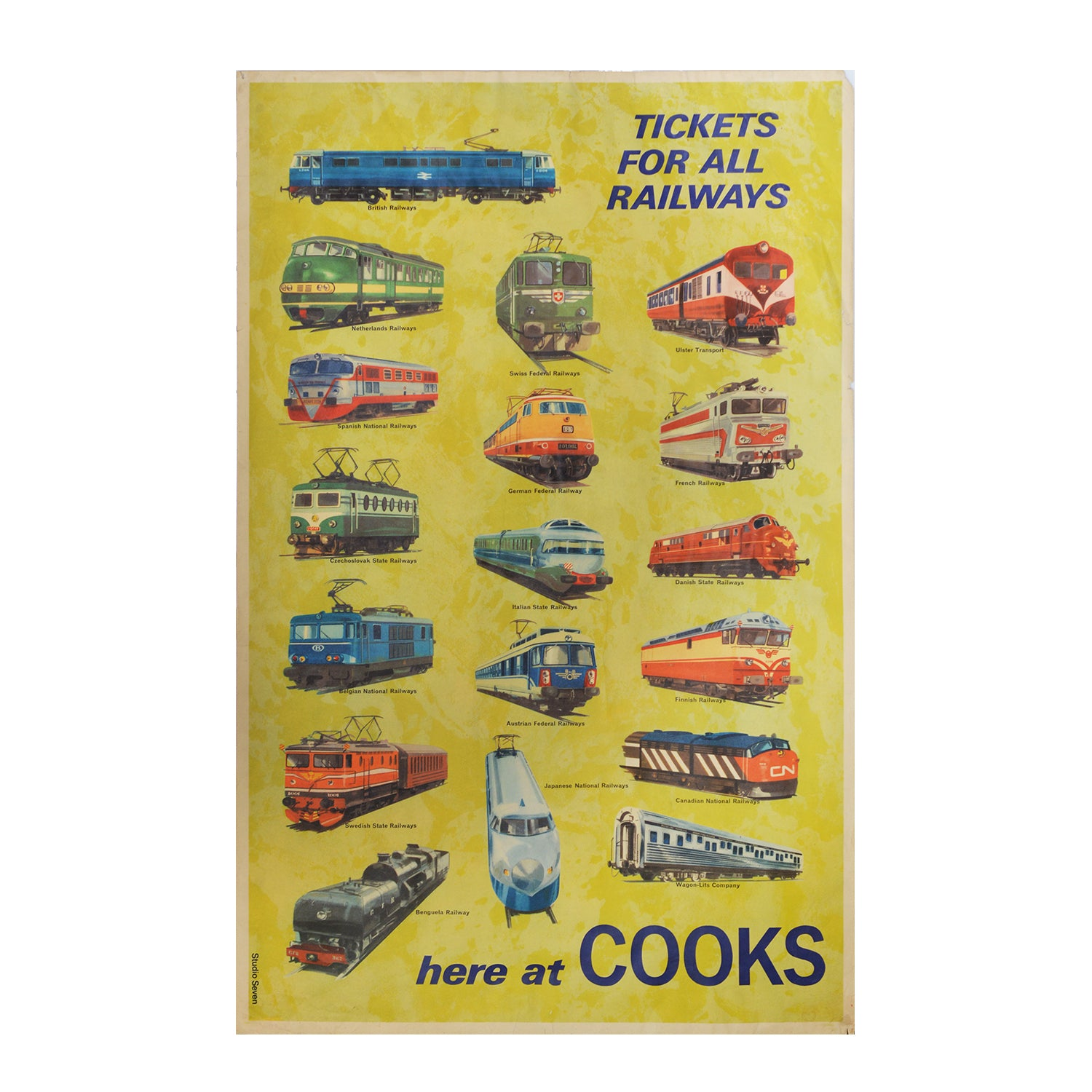 Original Cook's Tours railway poster c.1967