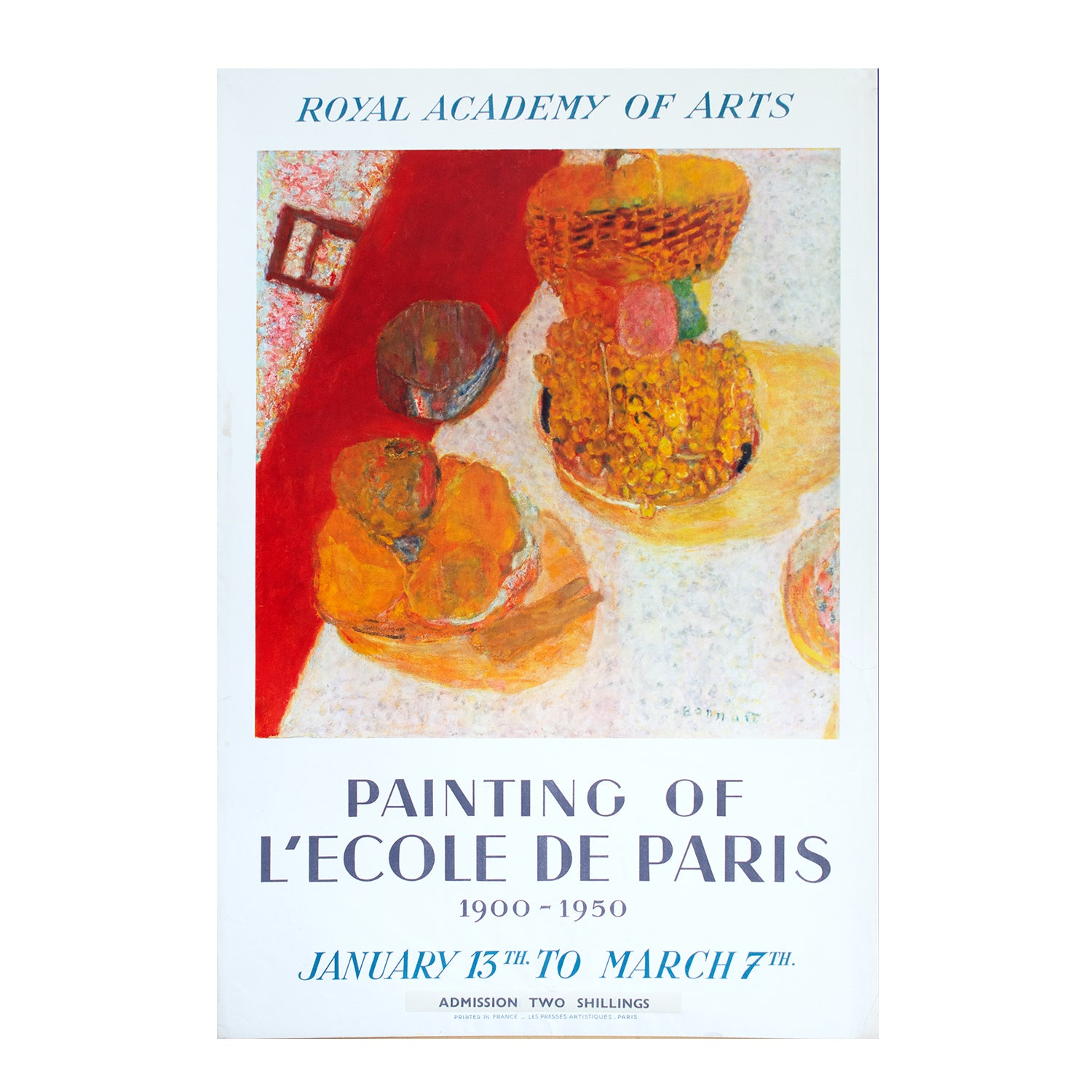 Paintings of L'Ecole de Paris 1900-1950. Exhibition