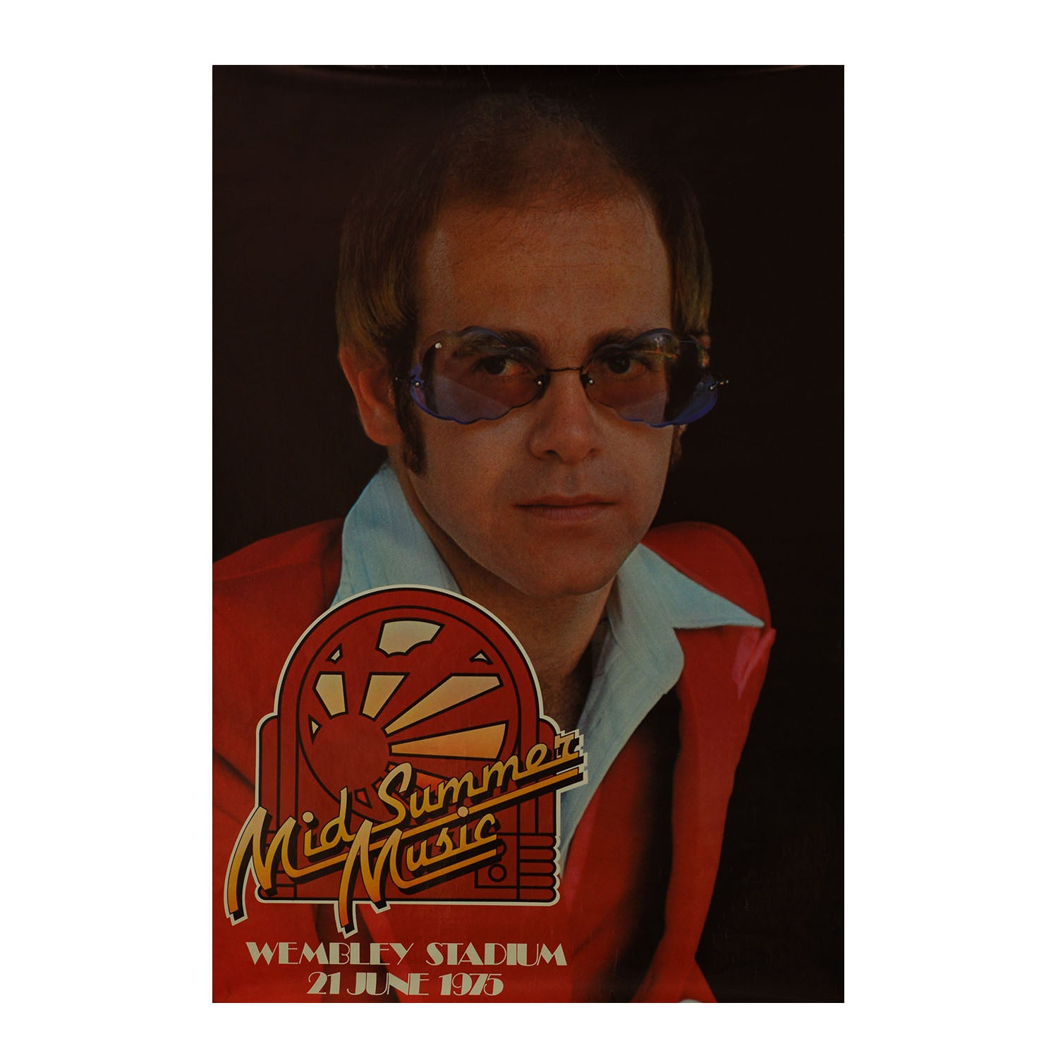 Original poster: Midsummer Music Wembley Stadium. Elton John