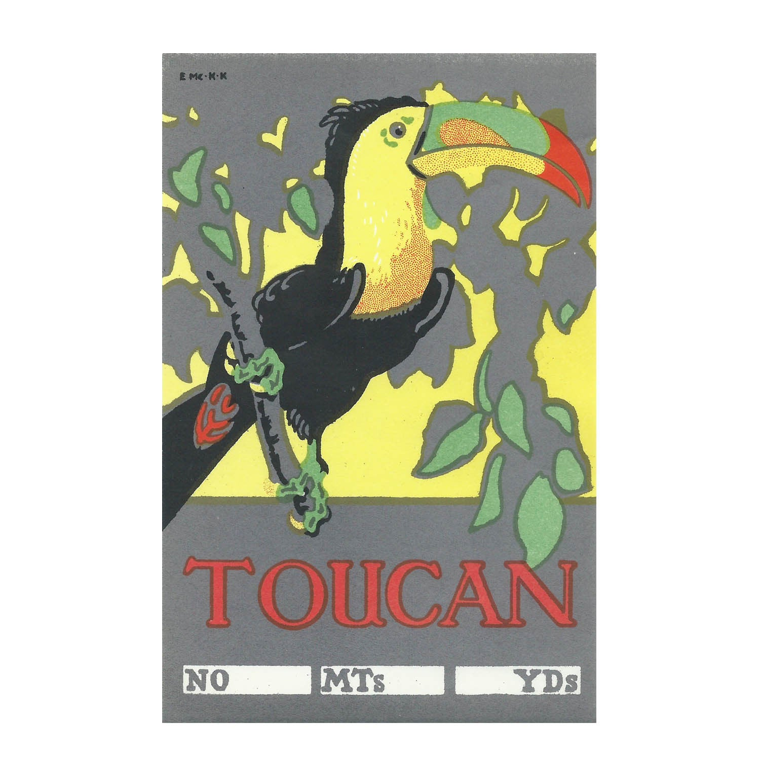Cotton bale label (Toucan)