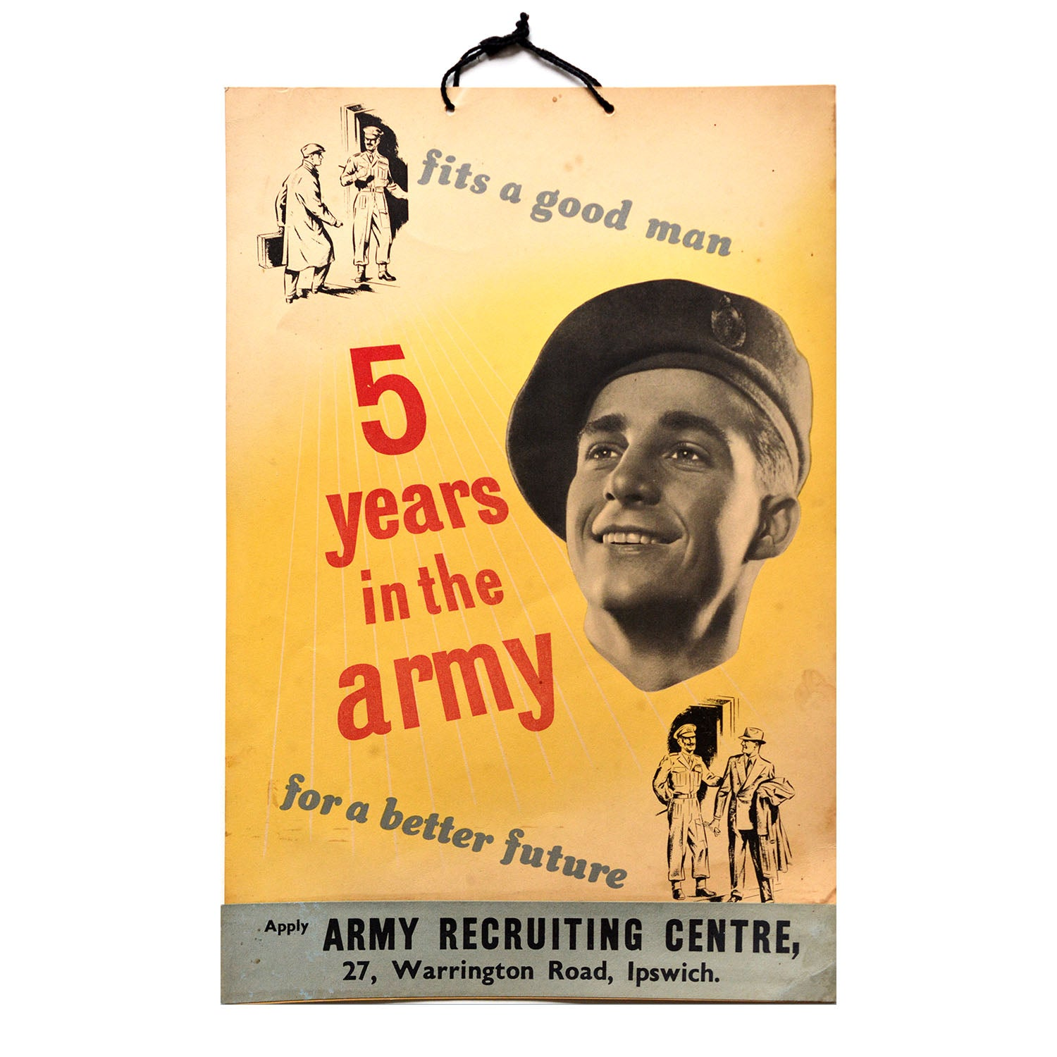 Original recruiting poster 1950 5 Years in the Army