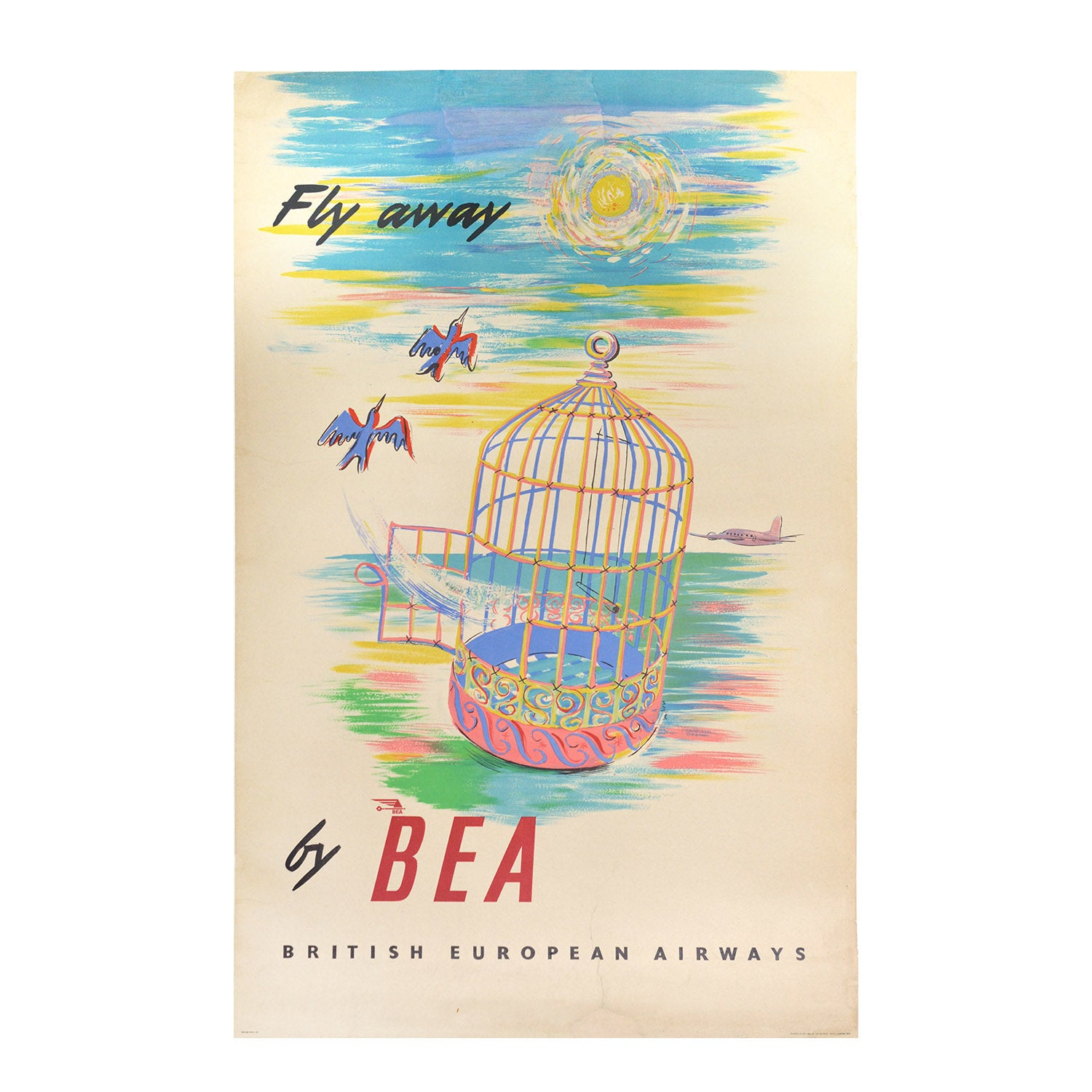 Original BEA poster Fly Away BEA