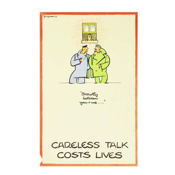 Original Fougasse Careless Talk poster 1940