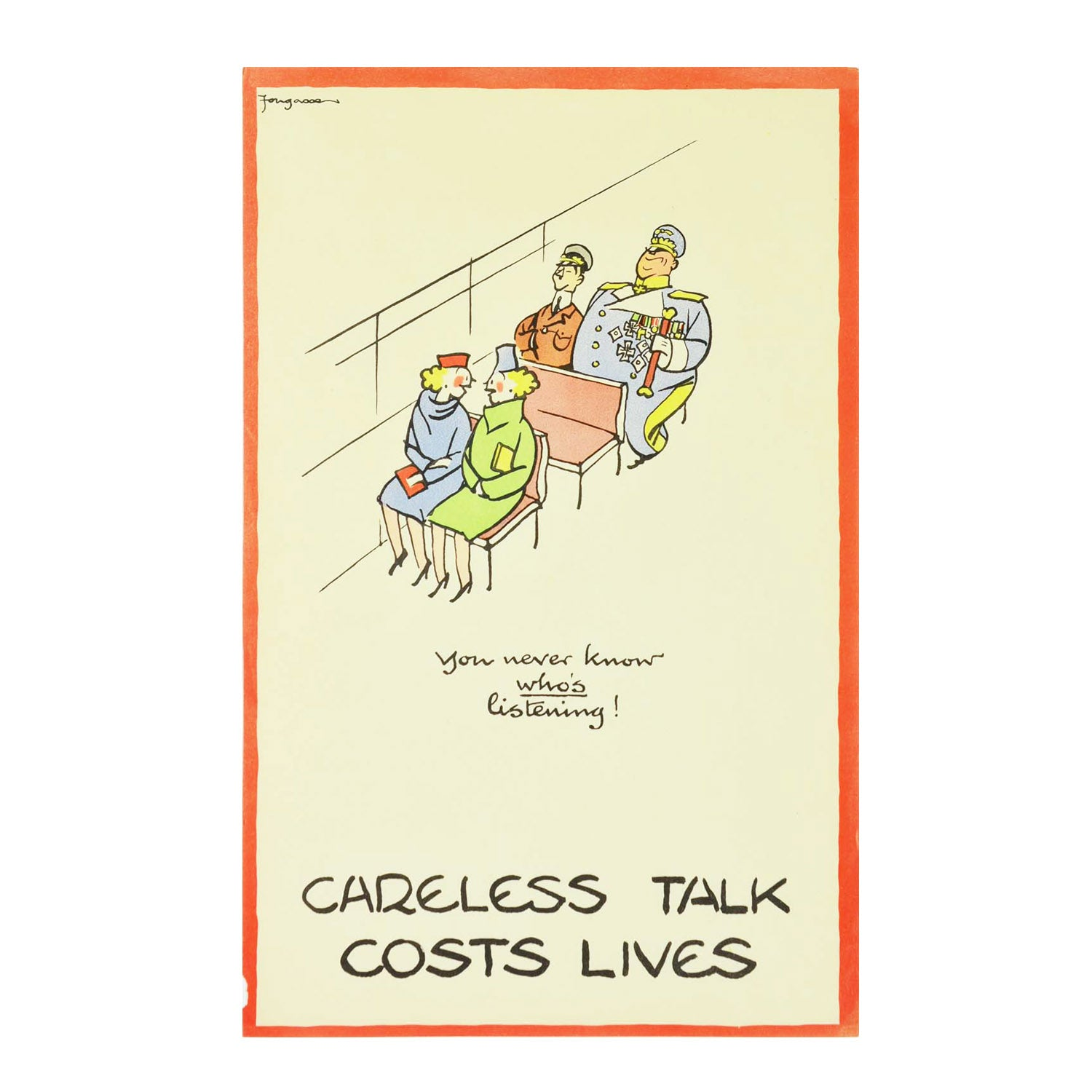 Original Fougsse Careless Talk poster 1940