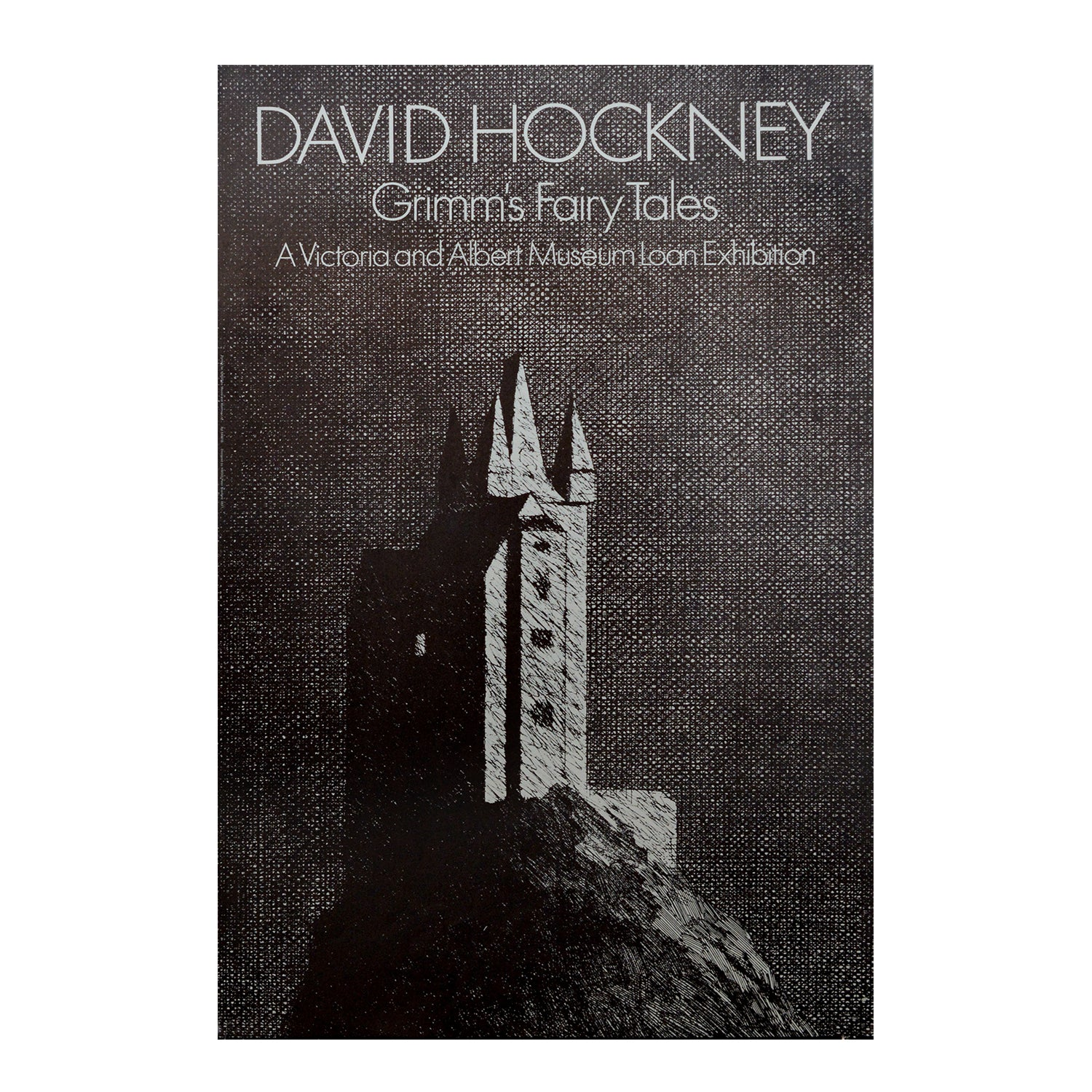 Original poster: David Hockney. Grimms Fairy Tales. V&A Touring Exhibition