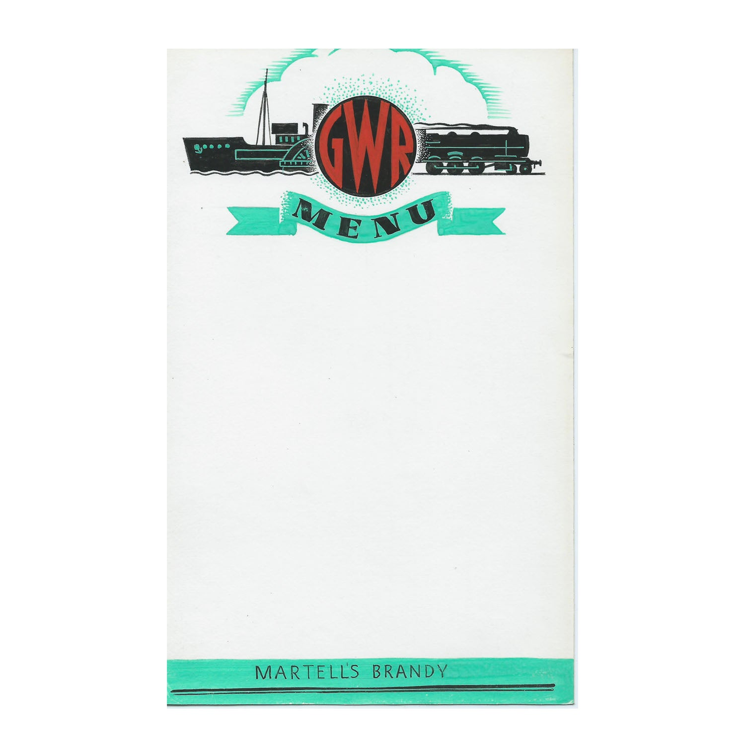 Menu artwork, GWR