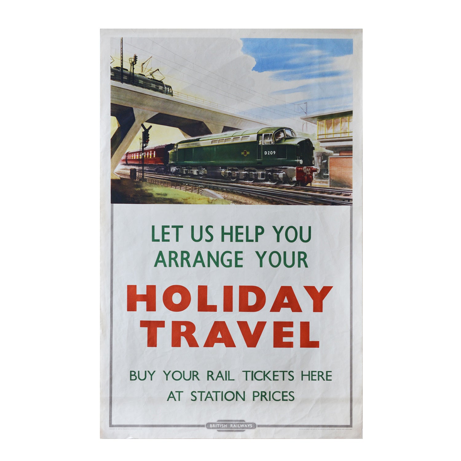 An original British Transport Commission poster Class 40
