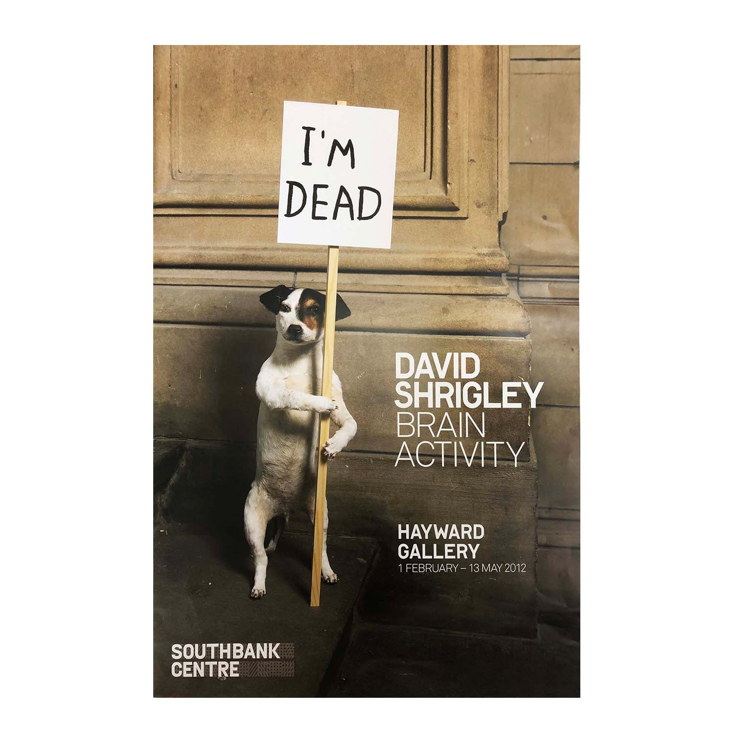 Original David Shrigley exhibition poster 2012