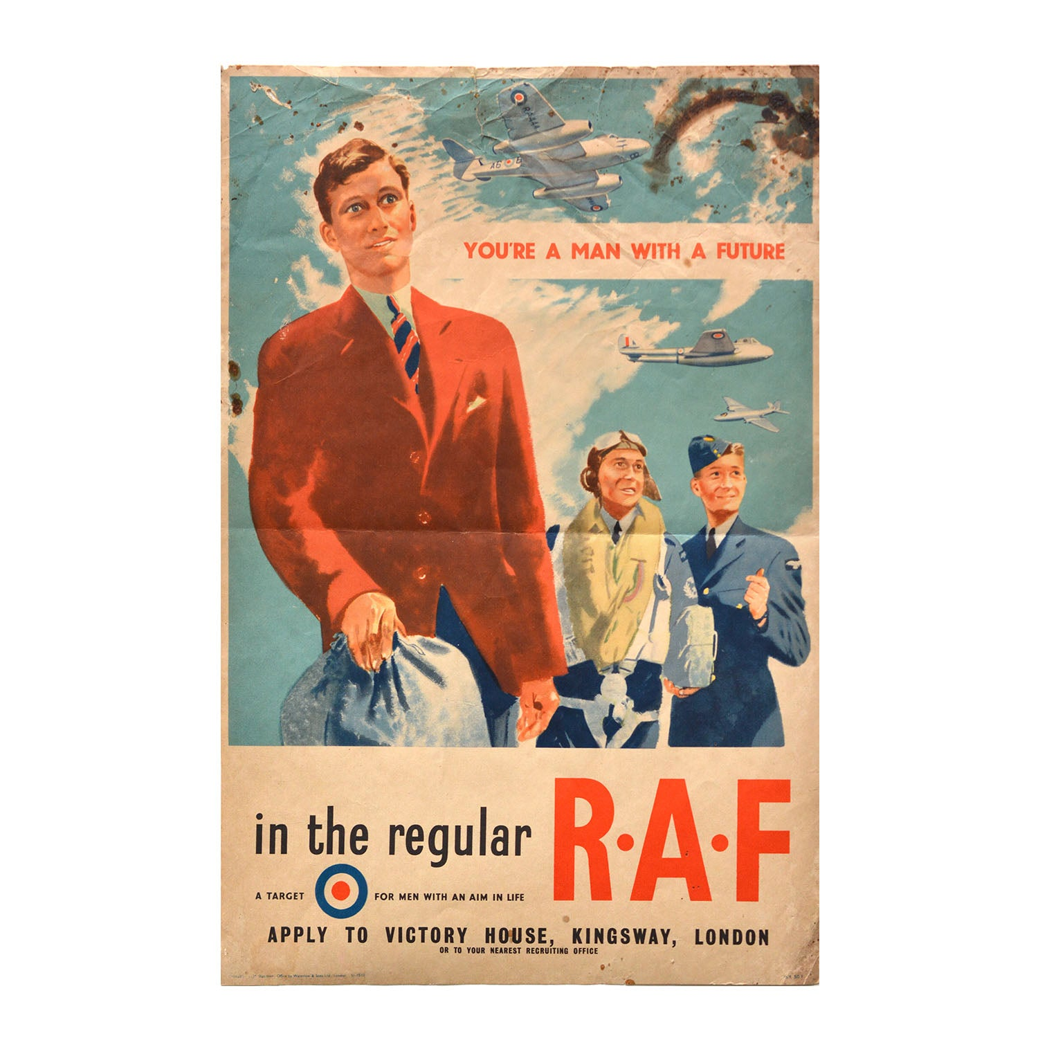 Original GPO poster You're a man with a future in the regular R.A.F