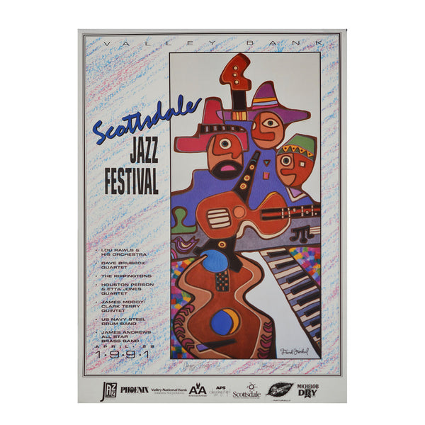 Original poster: Jazz Trio. Scottsdale Jazz Festival
