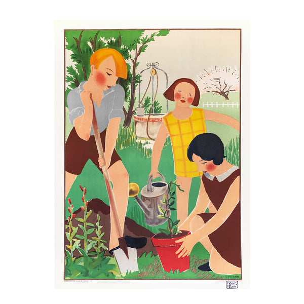 original, vintage French poster published by Ecole Art et Publicitie