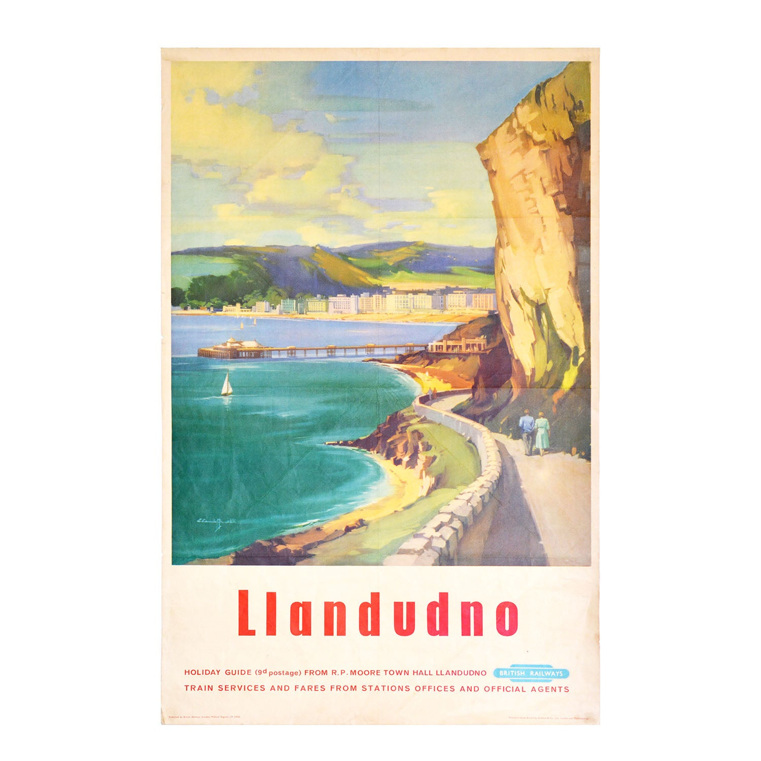 Original British Railways Llandudno poster