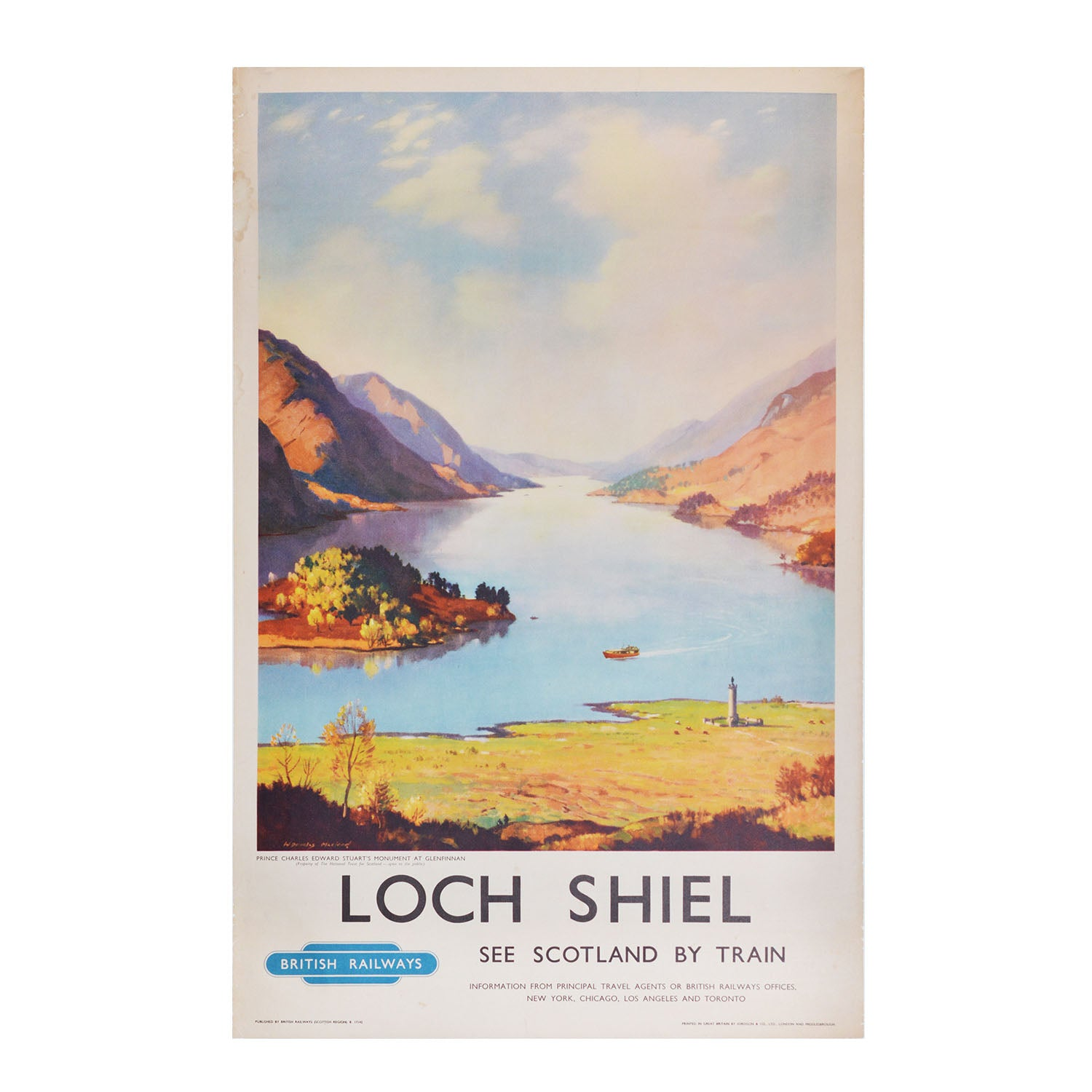 Original British Railways Loch Shiel poster