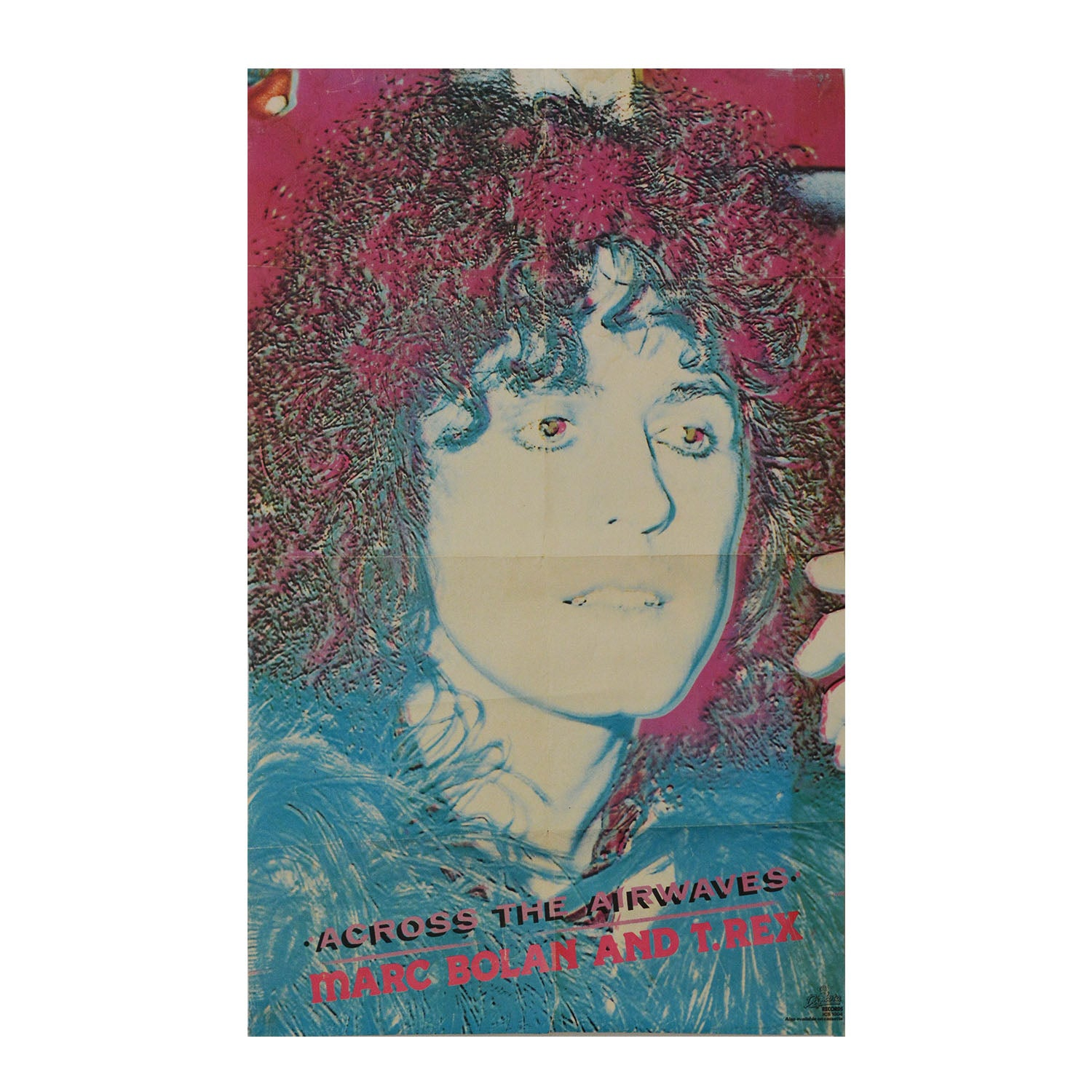 Original poster: Across the Airways. Marc Bolan & T Rex