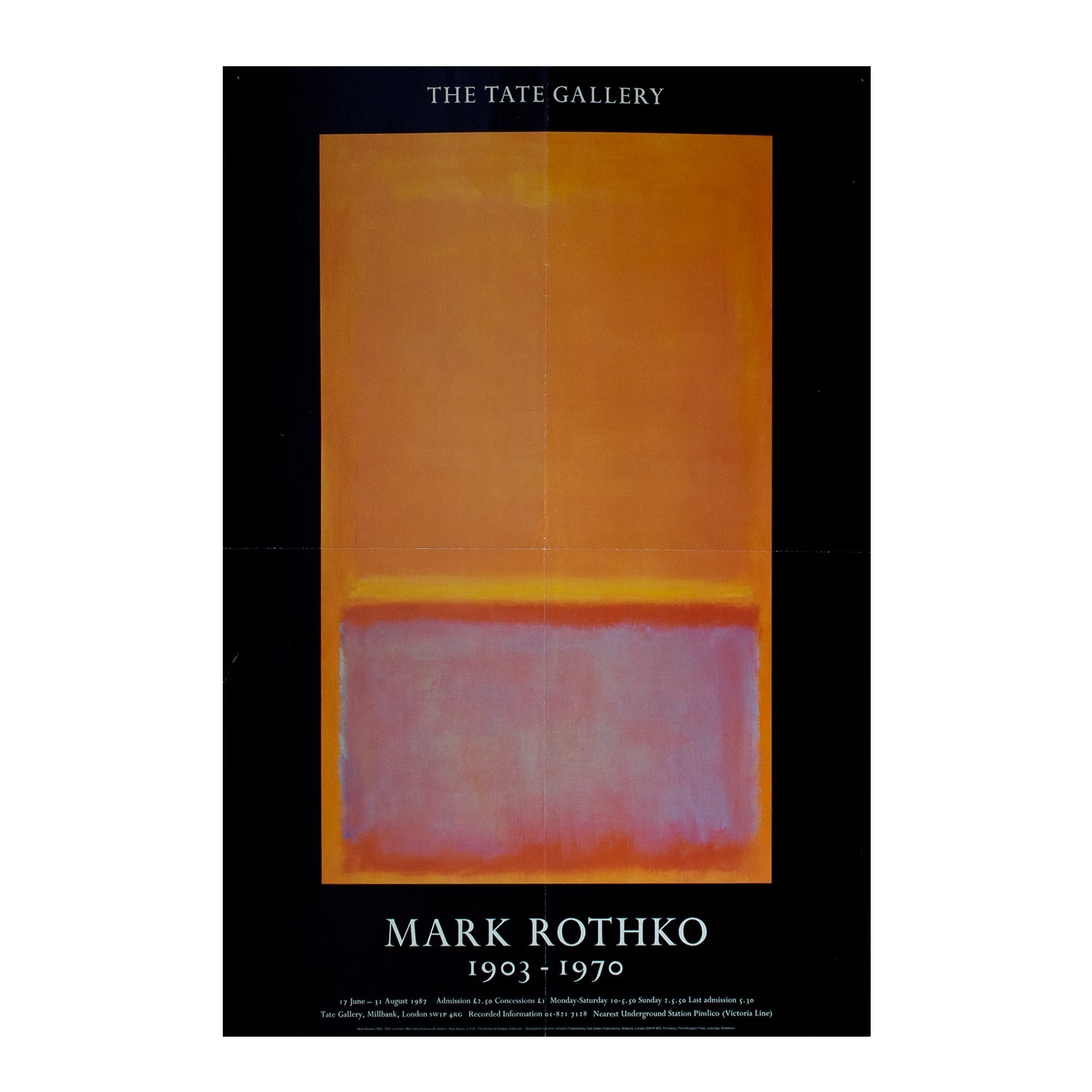 Mark Rothko. 1903-1970. Exhibition