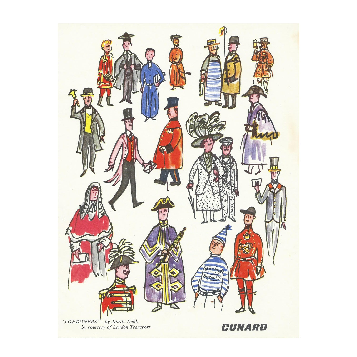 Cunard Dinner Menu, 'Queen Mary' by Dorrit Dekk
