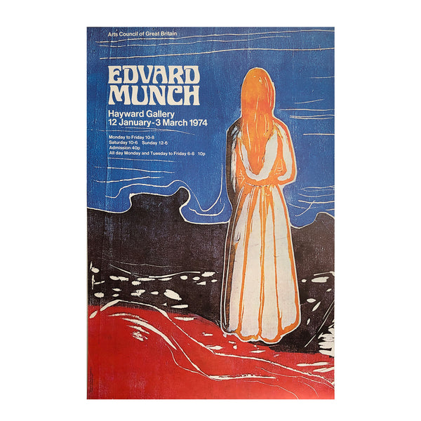 Original poster Edvard Munch. Exhibition