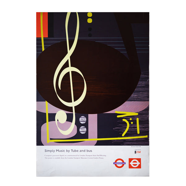 An original London Transport Poster. Simply Music by Paul Wearing