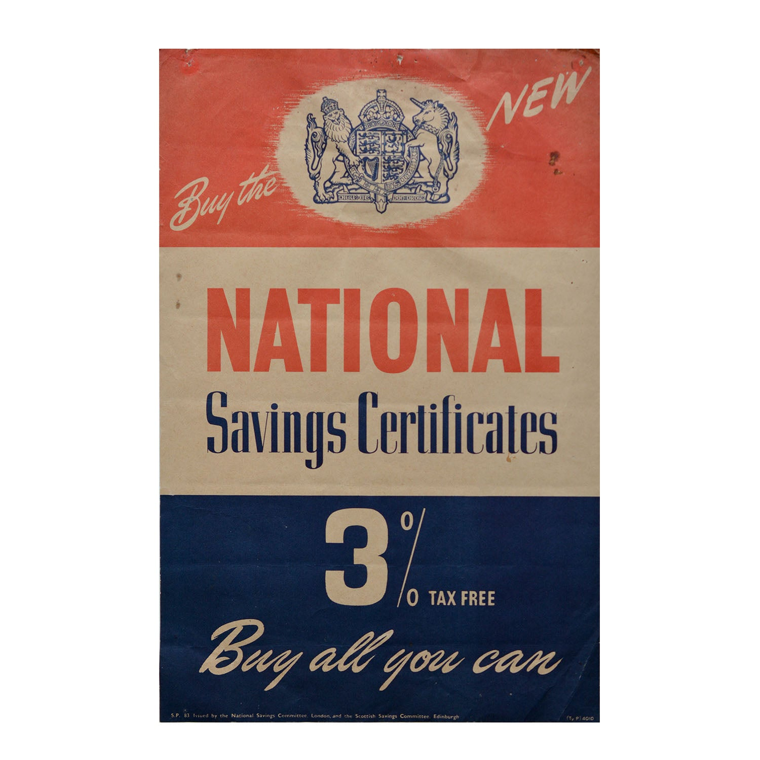 Original GPO poster National Savings Certificates