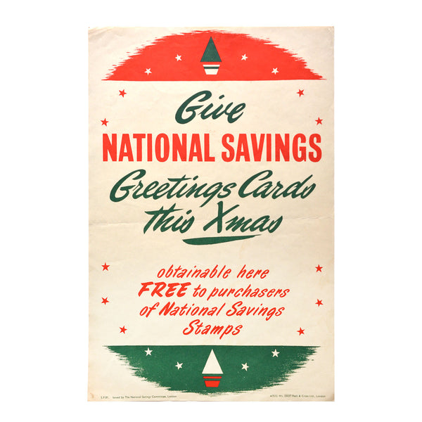 Original GPO poster Give National Savings Greetings Cards this Xmas