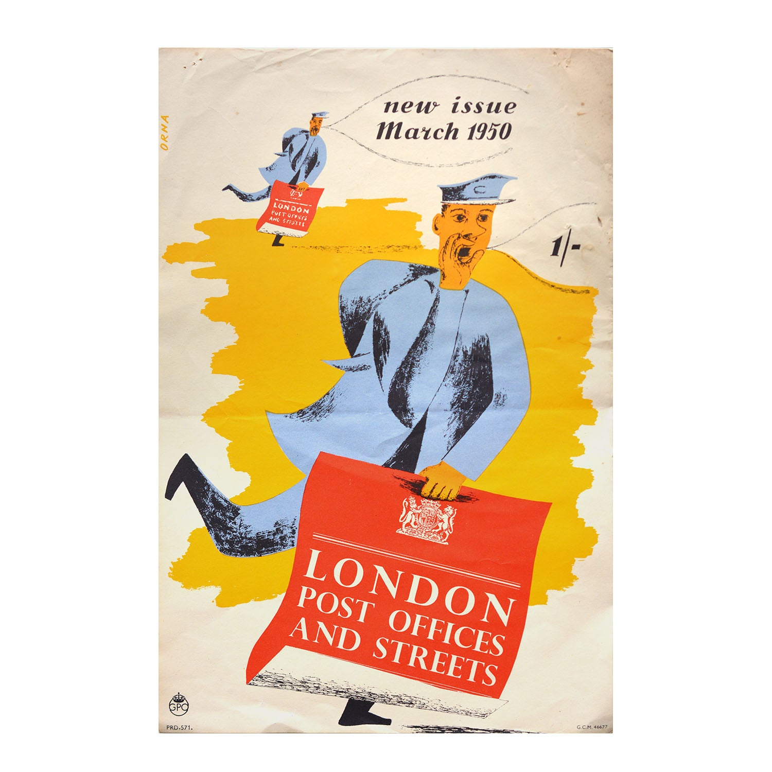 Original GPO poster London Post Offices and Streets