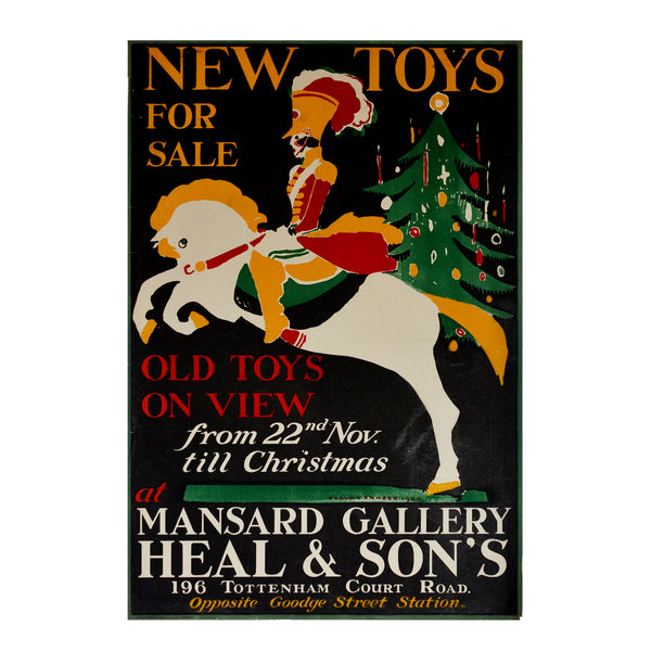 Original poster: New Toys for Sale, Mansard Gallery, Claud Lovat Fraser