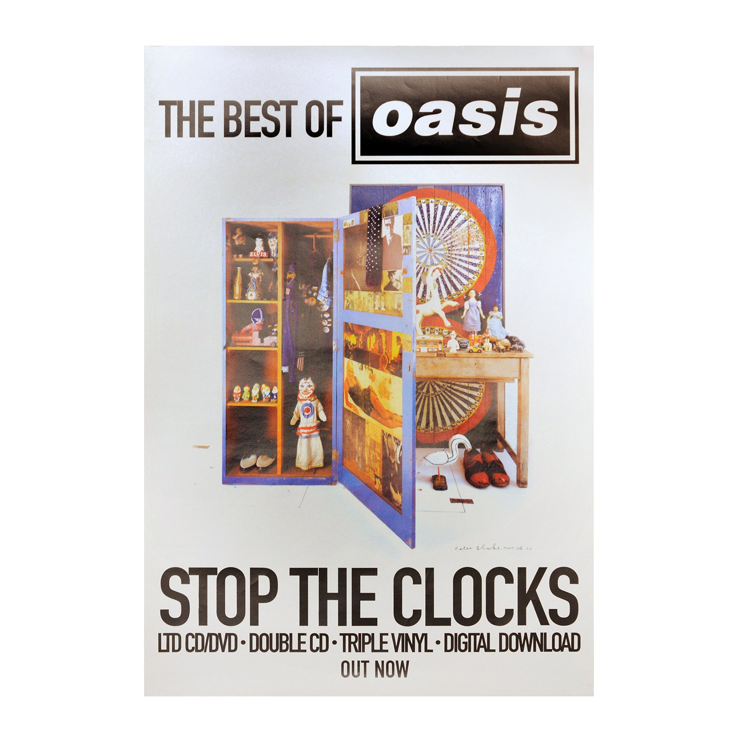 Original poster: Stop The Clocks. Oasis (small format)
