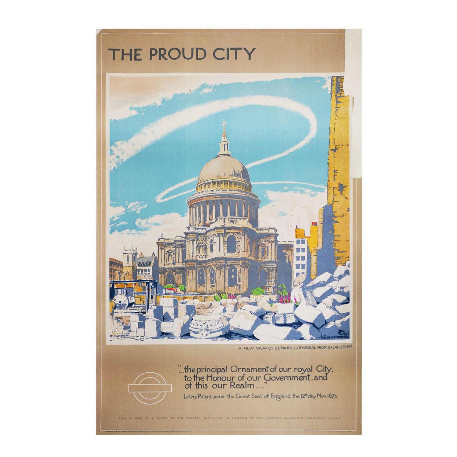 Original London Transport Proud City poster