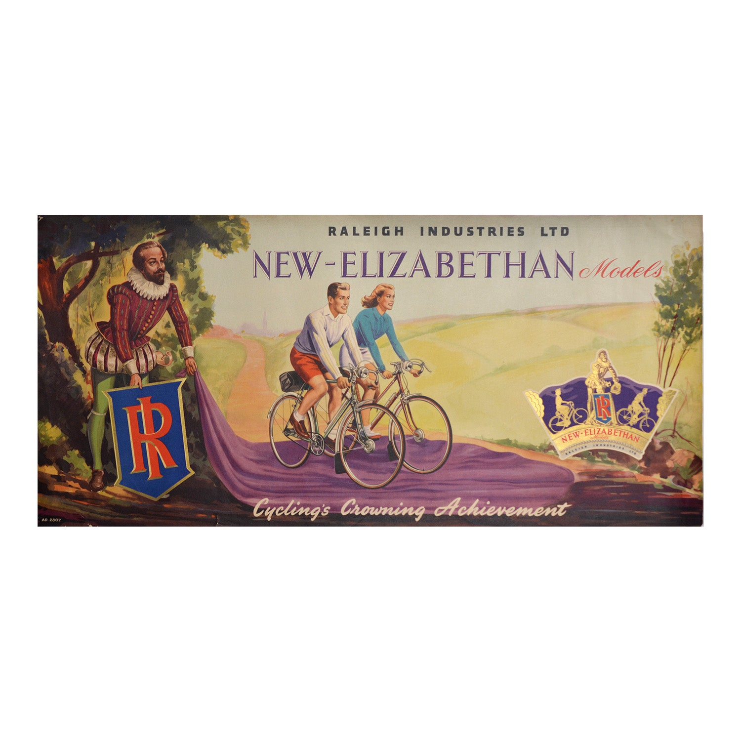 Original Raleigh poster New - Elizabethan Models