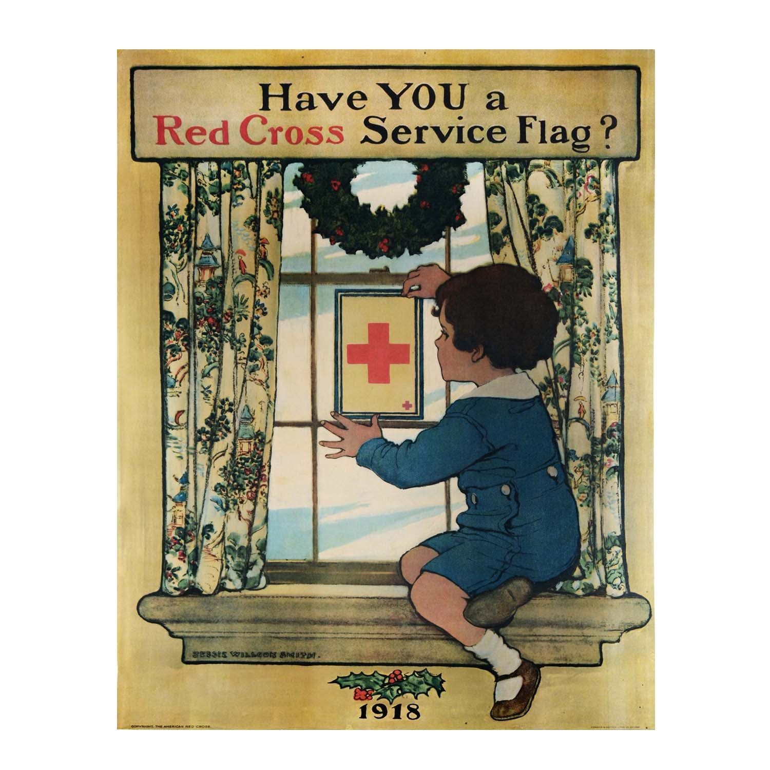 Original Jessie Willcox Smith Red Cross poster