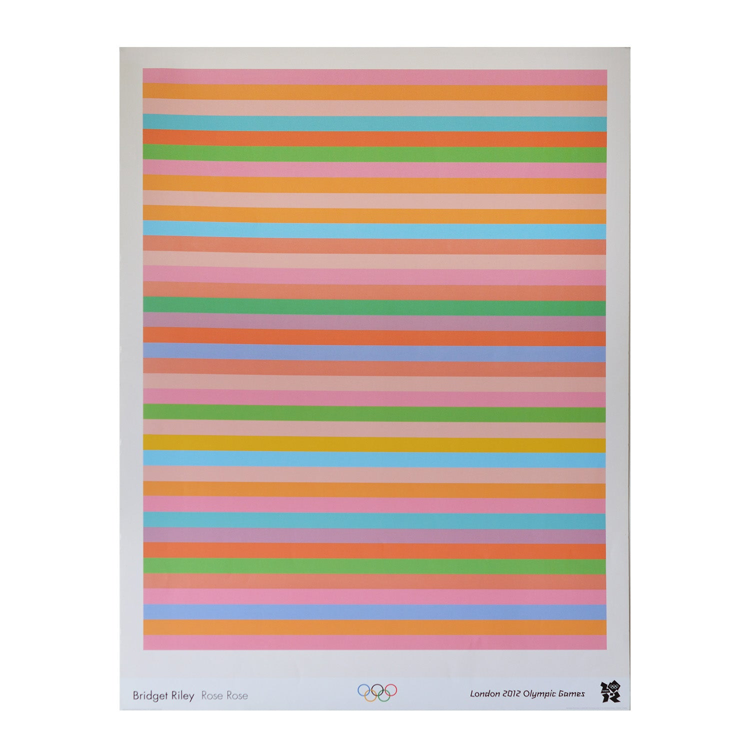 Official 2012 Olympic Games poster Bridget Riley