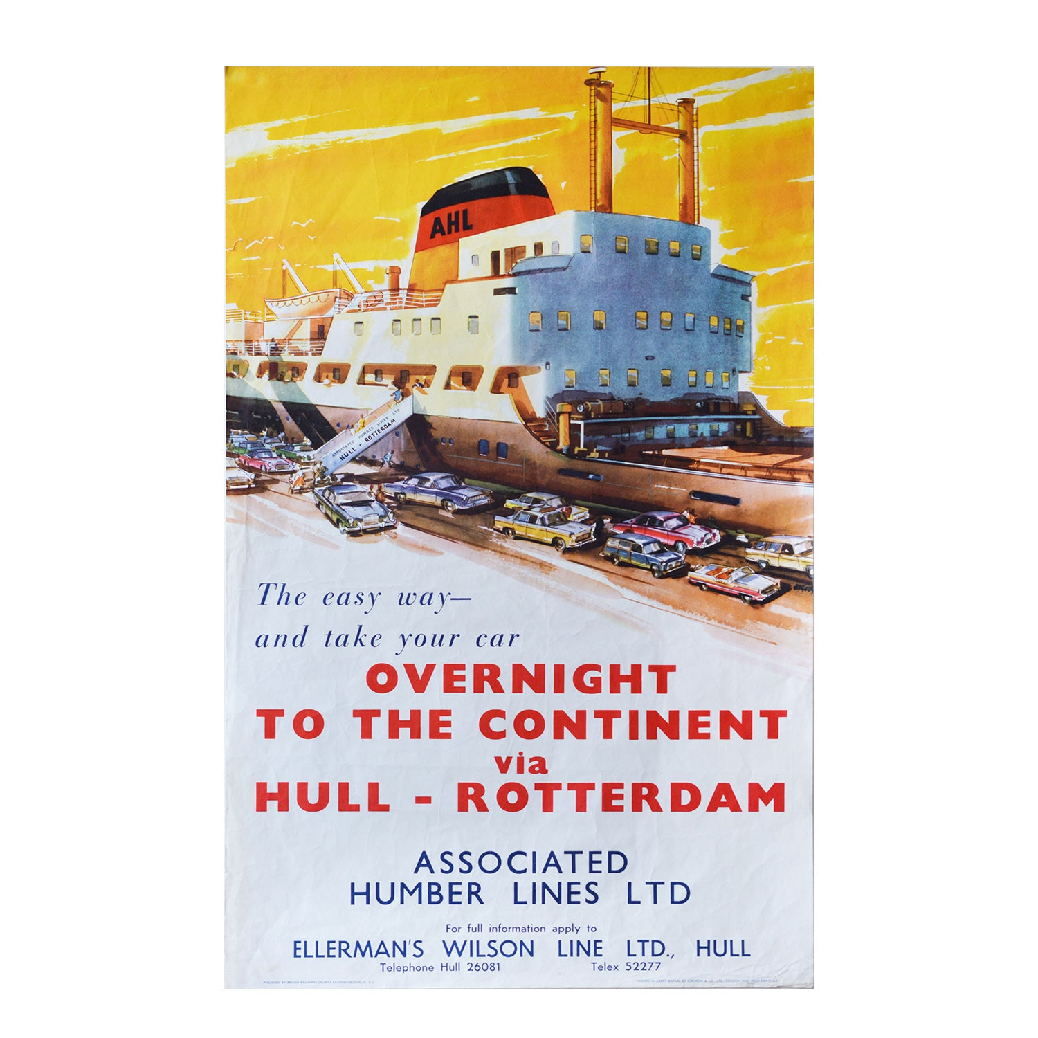 Original BR Associated Humber Lines Poster c.1960