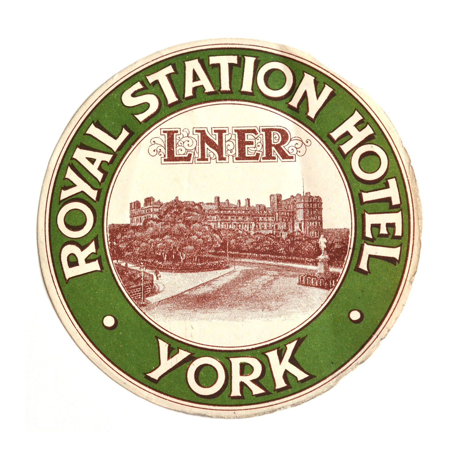 Original LNER luggage label, York