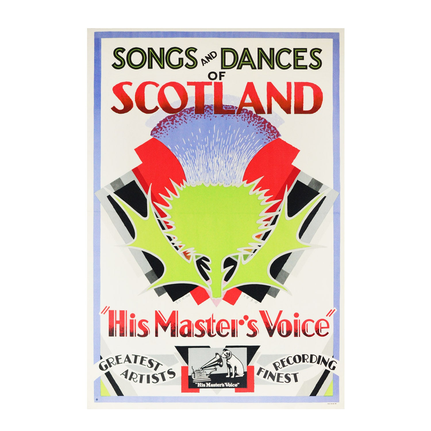 Original S.T.C. Weeks HMV Scotland poster 1930