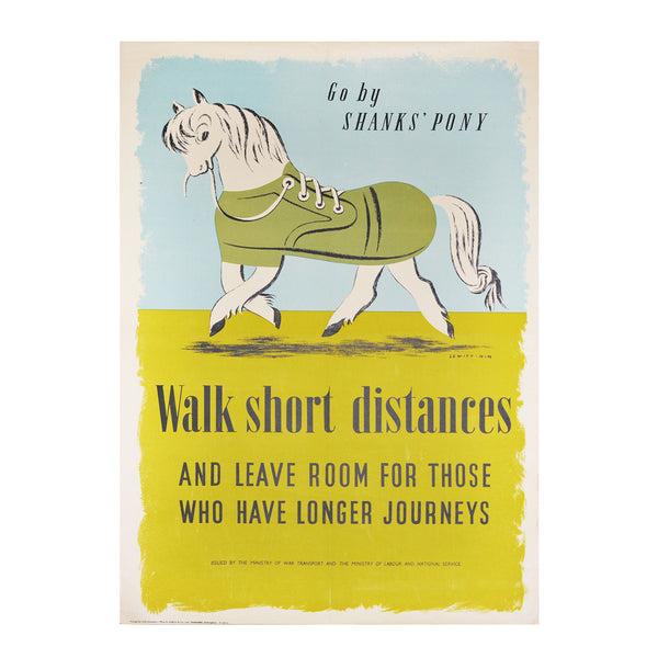 Original Lewitt-Him Shanks' Pony poster WW2