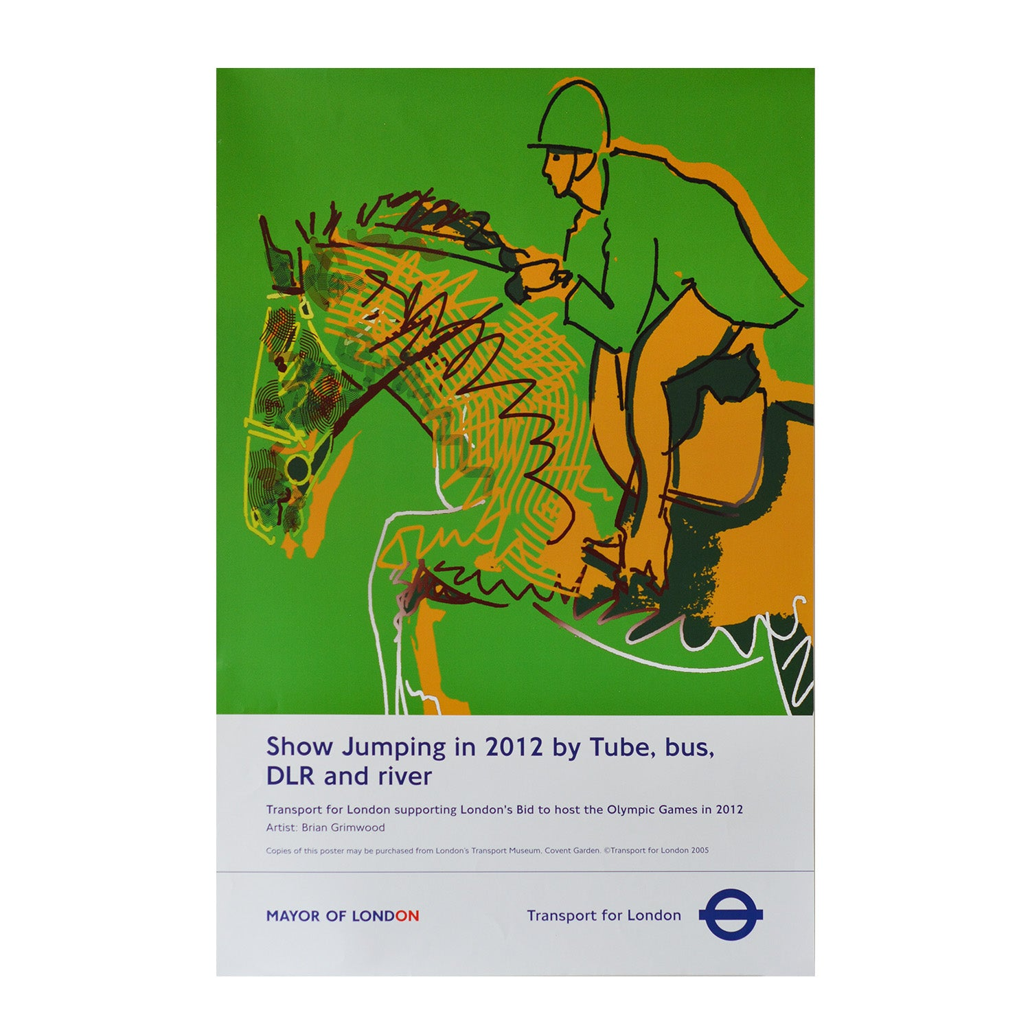 Original TfL 'Back The Bid' London Olympic Games poster 2005