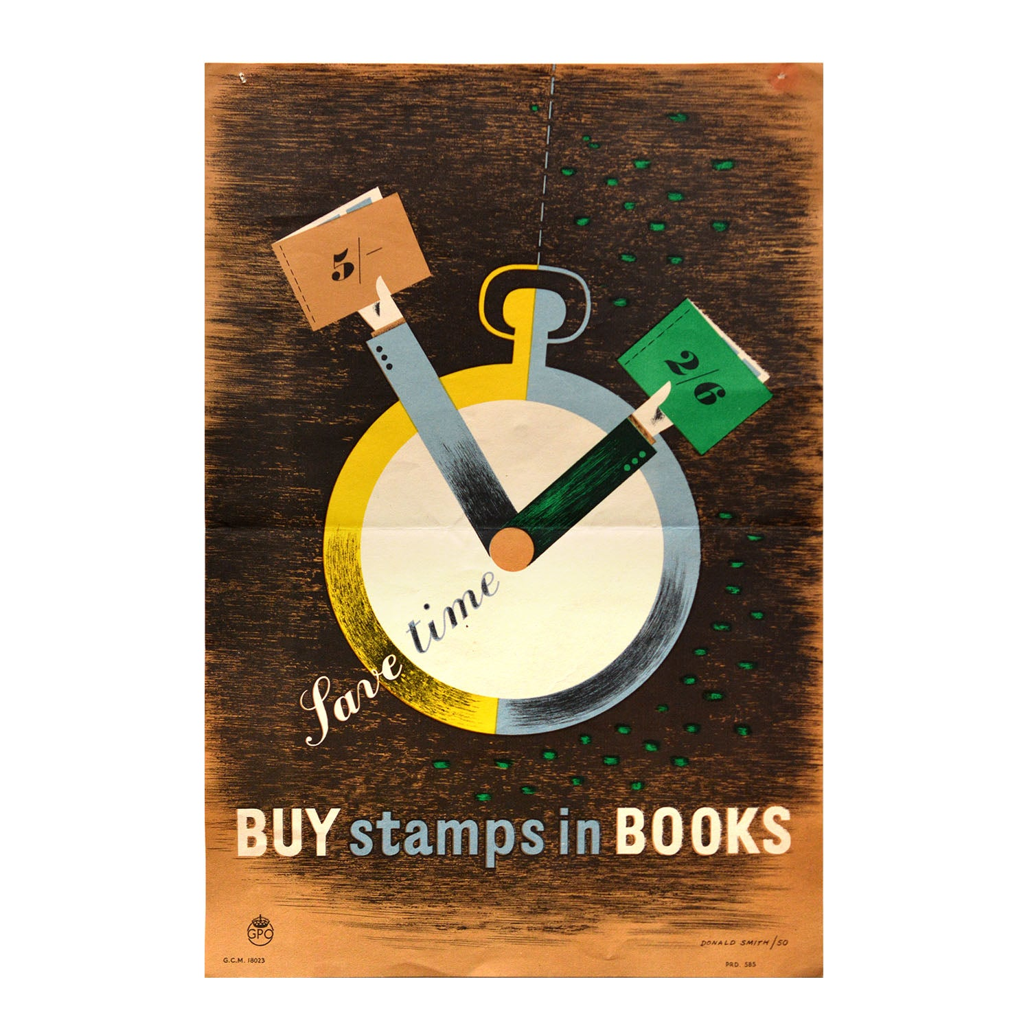 Original GPO poster Buy stamps in books