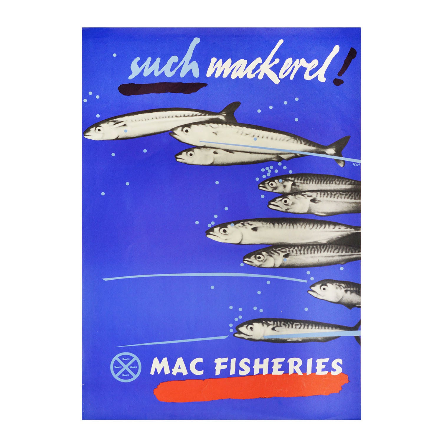 Original 1950s Mac Fisheries poster by Hans Schleger (1898-1976)