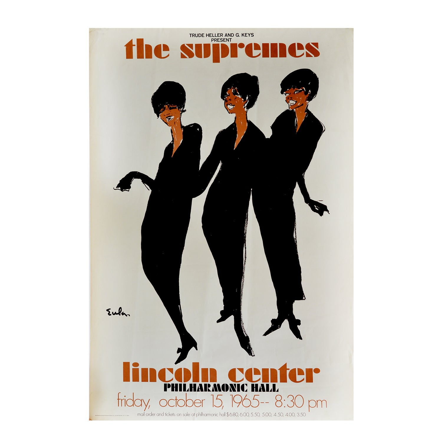 The Supremes. Lincoln Center, Friday October 1965